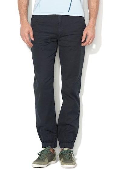 Pepe Jeans London Тъмносин панталон с релефна повърхност Мъже