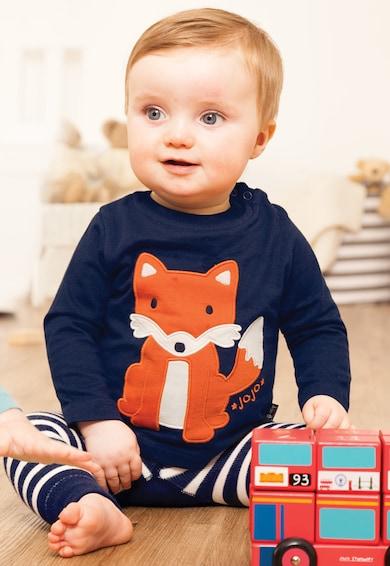 JoJo Maman Bebe Bluza bleumarin cu design vulpe Baieti