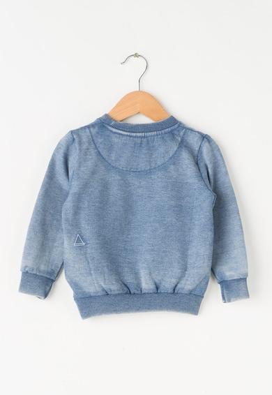Little Eleven Paris Gyermek Koptatott Kék Pulóver Plüss Rátéttel Lány