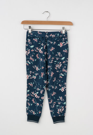 Pepe Jeans London Pantaloni jogger din lyocell cu model floral Liz Fete