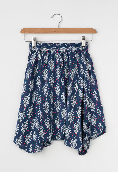 Pepe Jeans London Детска синя пола с набирания Момичета