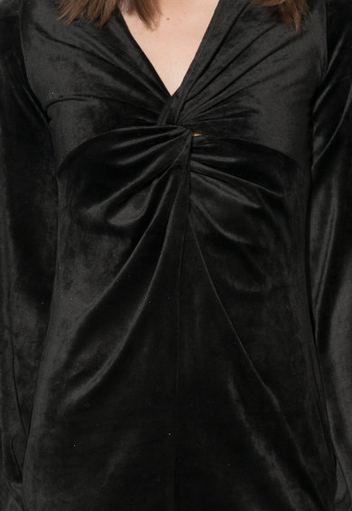Zee Lane Collection Fekete Bársonyos Ruha női