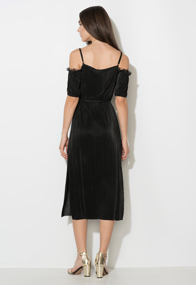 Zee Lane Collection Черна рокля с голи рамене и дантела Жени
