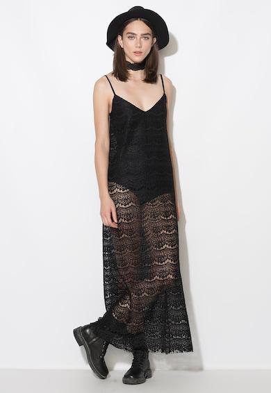 Zee Lane Collection Черна рокля от плетена дантела с боди Жени