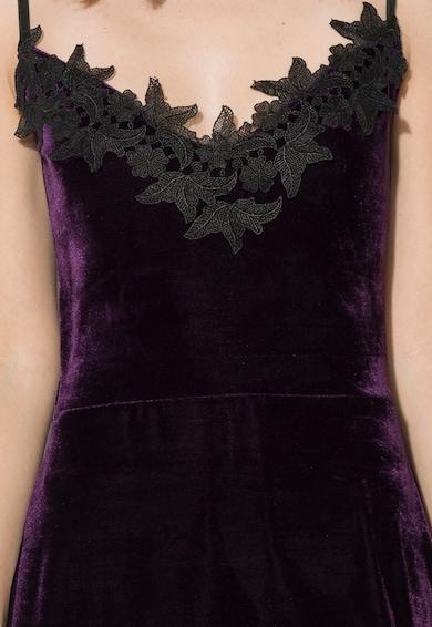Zee Lane Collection Rochie violet inchis catifelata Femei