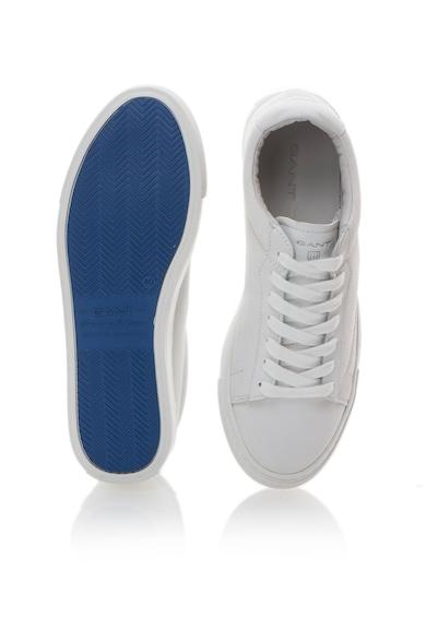 Gant Бели кожени спортни обувки Мъже