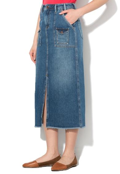 Pepe Jeans London Синя дълга пола от деним Жени