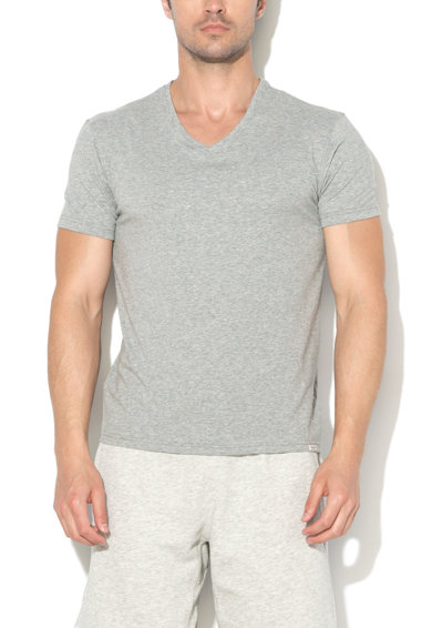 Pepe Jeans London Set de tricouri de casa gri cu decolteu in V Aiden - 2 piese Barbati