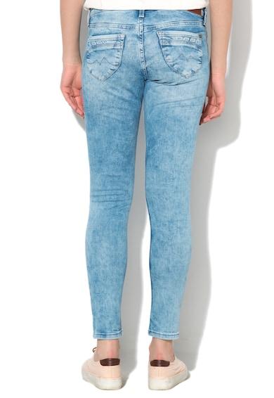 Pepe Jeans London Jeansi slim fit bleu cu talie joasa Ripple Femei