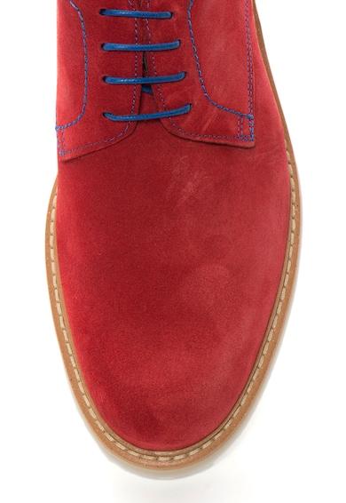 Zee Lane Collection Червени велурени обувки Derby Мъже