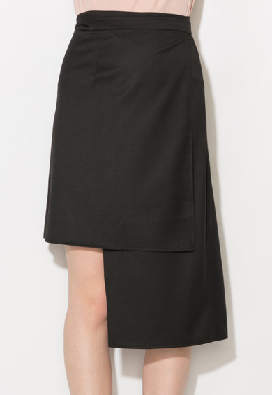 Zee Lane Collection Fusta neagra asimetrica Femei