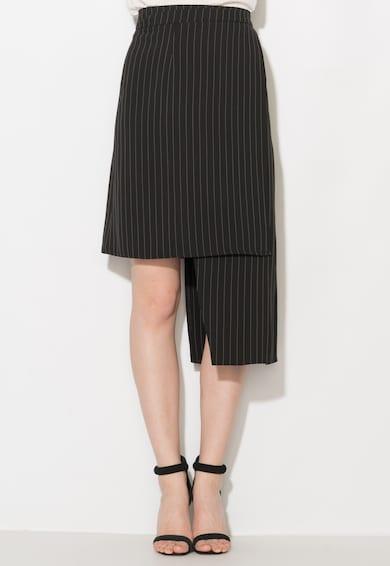 Zee Lane Collection Fekete&Fehér Aszimmetrikus Szoknya női