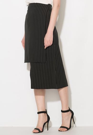 Zee Lane Collection Fusta asimetrica negru cu alb Femei