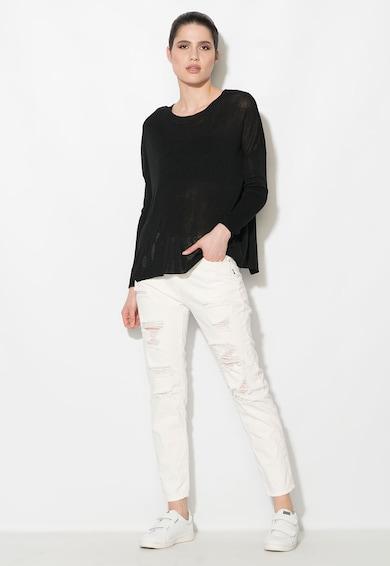 Zee Lane Denim Bluza neagra semitransparenta cu decupaj pe partea din spate Femei