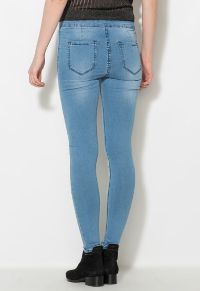 Zee Lane Denim Jeansi elastici skinny albastri Femei