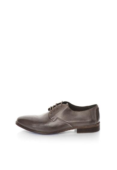 Zee Lane Collection Сиви кожени обувки Мъже