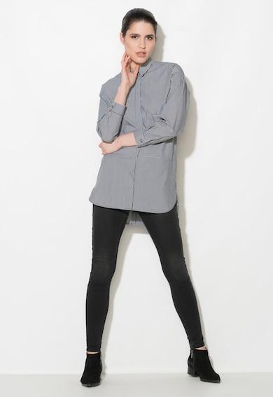 Zee Lane Denim Раирана риза в бледочерно и бяло Жени