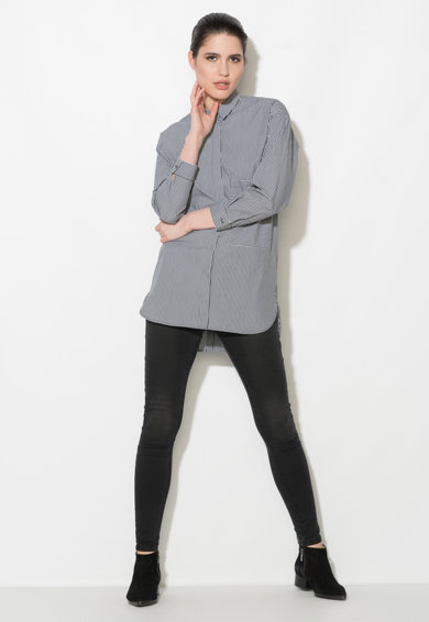 Zee Lane Denim Camasa cu model in dungi si buzunare Femei