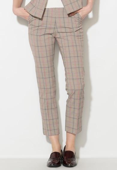 Zee Lane Denim Кариран панталон в сиви нюаси и розово Жени