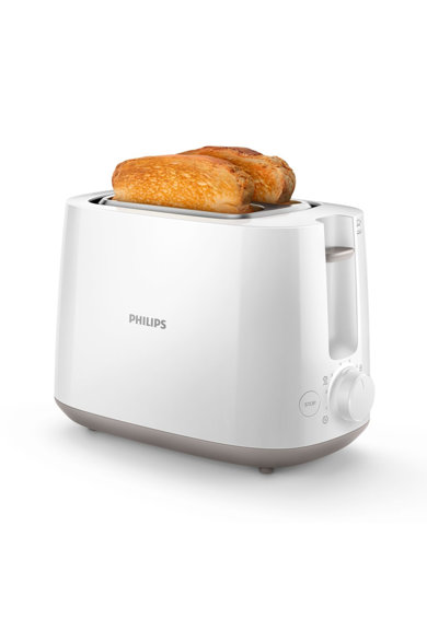Philips Prajitor de paine  HD2581/00, 750 W, 2 felii, 8 setari rumenire, Grill, Functie reincalzire si dezghetare, Alb Femei