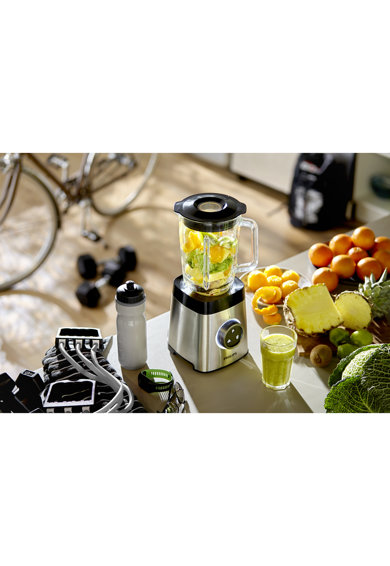 Philips Blender  Avance HR3652/00, 1400 W, 35,000 RPM, Vas sticla 2l, 2 Viteze, ProBlend 3D 6, Afisaj LED, Functie impuls, Metalic Femei