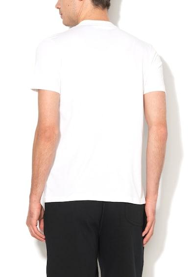 Asics Бяла тениска с цветна фигурална шампа Мъже