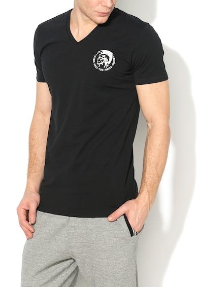 Diesel Черна тениска с щампа Мъже