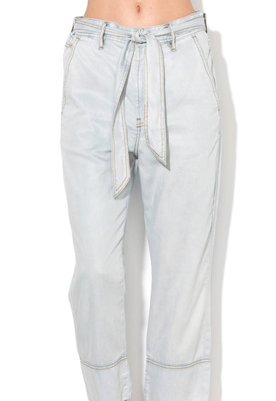 Diesel Pantaloni crop bleu De-Jama Femei
