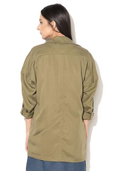 Esprit Khaki Vékony Lyocell Kabát női