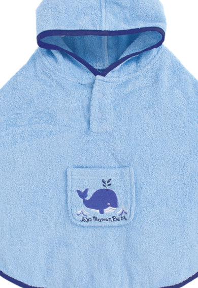 JoJo Maman Bebe Детска синя кърпа тип пончо Момчета