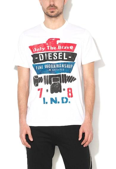 Diesel Rain Fehér Szöveges Mintás Póló férfi