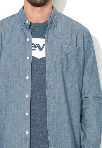 Levi's Camasa albastra din material chambray Barbati