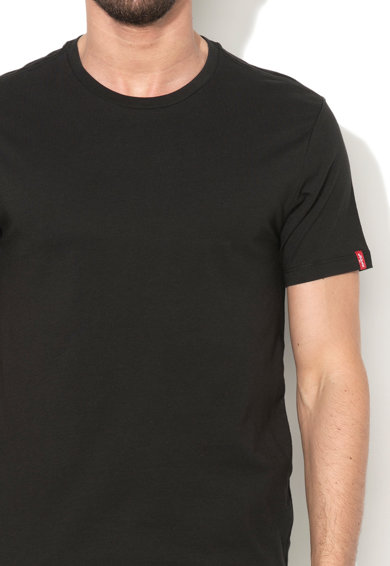 Levi's Set de tricouri negre slim fit - 2 piese Barbati