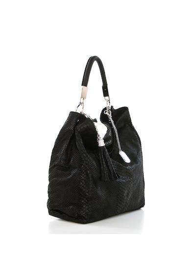 Anna Morellini Geanta neagra , de Dama,  din piele naturala produsa in Italia WB133073-BLACK (10) Femei