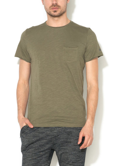 BLEND Tricou regular fit verde militar Barbati