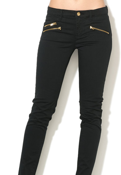 Juicy Couture Moto Fekete Szűk Fazonú Nadrág női