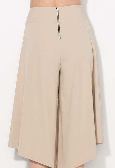 Zee Lane Collection Fusta-pantalon bej asimetrica Femei
