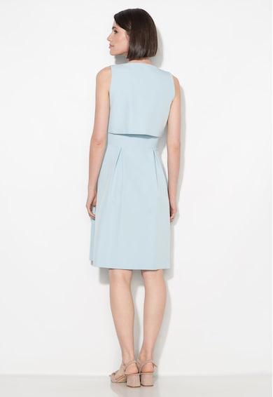 Zee Lane Collection Rochie bleu evazata cu detaliu suprapus Femei