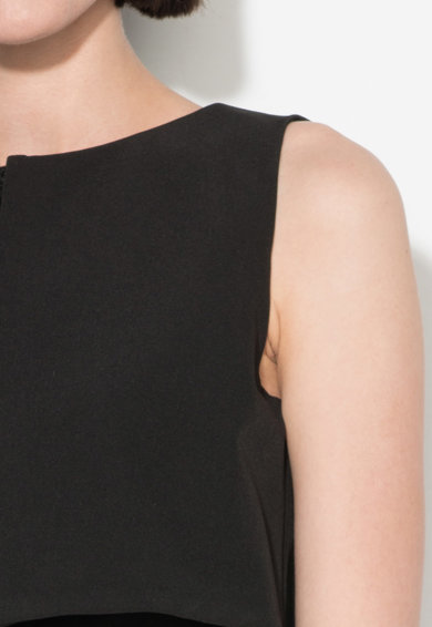 Zee Lane Collection Rochie neagra evazata cu detaliu suprapus Femei
