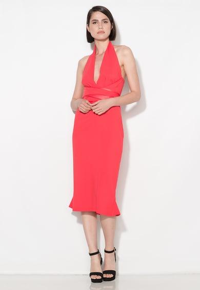 Zee Lane Collection Rochie rosu capsuna cu decolteu halter Femei