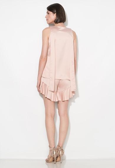 Zee Lane Collection Pantaloni scurti roz prafuit cu volane la terminatii Femei
