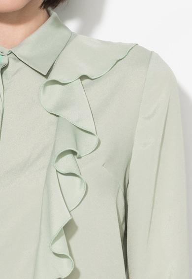 Zee Lane Collection Camasa verde celadon cu volane Femei