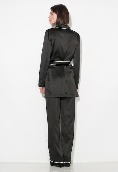 Zee Lane Collection Pantaloni negri vaporosi cu croiala ampla Femei