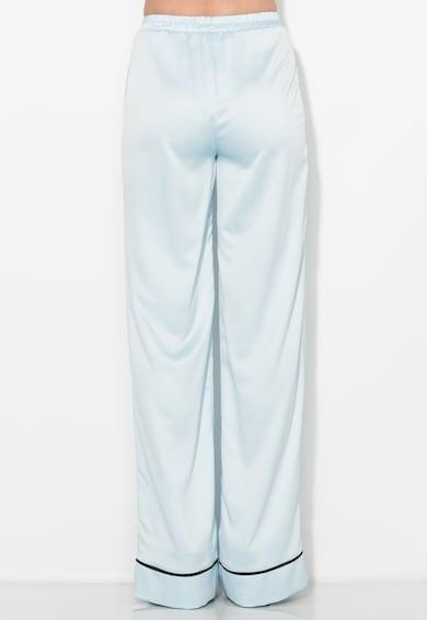 Zee Lane Collection Pantaloni albastru pal vaporosi cu croiala ampla Femei