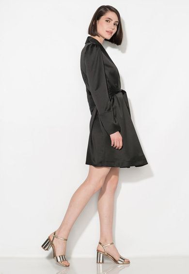 Zee Lane Collection Дълго черно сатинирано сако Жени