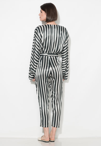Zee Lane Collection Salopeta negru cu alb in dungi Femei