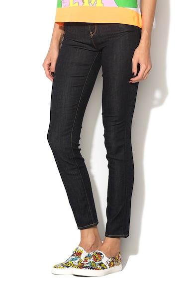 Love Moschino Pantaloni elastici albastru ultramarin din denim Femei