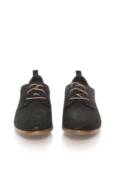 Clarks Pantofi Oxford negri de piele nabuc Alania Posey Femei