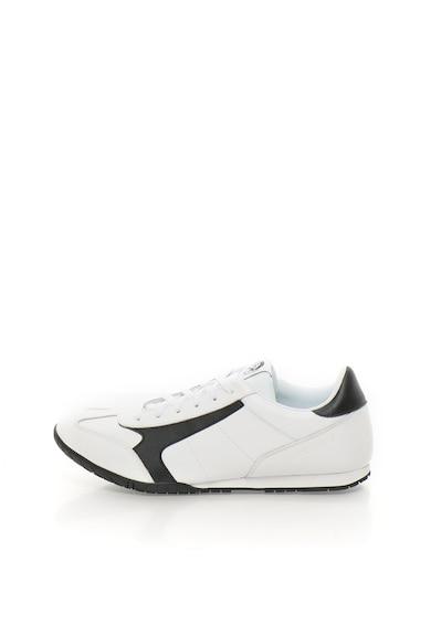 Diesel Кожени спортни обувки в черно и бяло Мъже