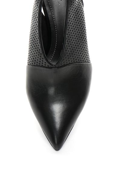 Diesel Черни кожени обувки с отворена пета и перфорации Жени